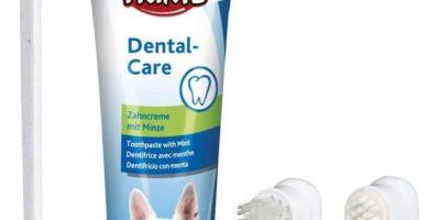 TRIXIE Set Higiene Dental, Pasta y cepillos dedos para Perro